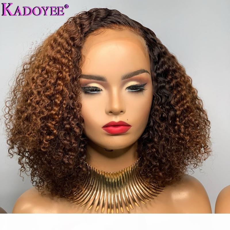 Courly Lace Front Perücke Ombre Human Hair Perücke 13x4 Spitze Vordere Menschenhaarperücken Für Schwarze Frauen Brasilianische Remy Bleached Knoten