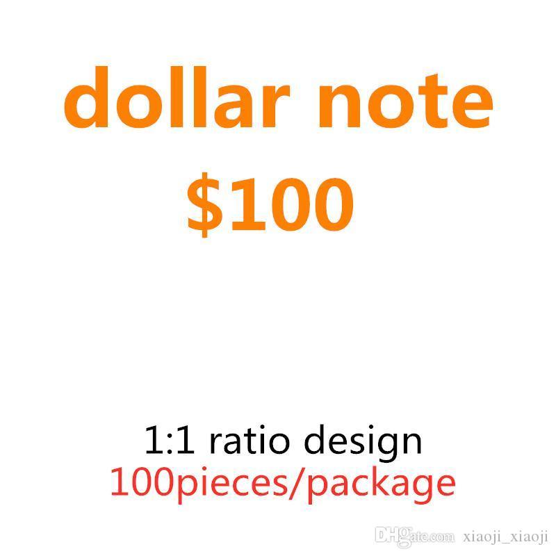 Money Home Качество валюты и фильма США 100 доллар Горячая коллекция Украшения Лучшие подарки Продажа Prop 17 Оптовая банкнота AWTBX