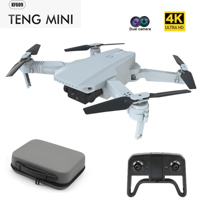 DRONES KF609 4K Fotocamera HD RC Mini Drone pieghevole con WiFi FPV Selfie Flusso ottico Flusso stabile Altezza stabile Quadcopter Elicottero giocattolo E58
