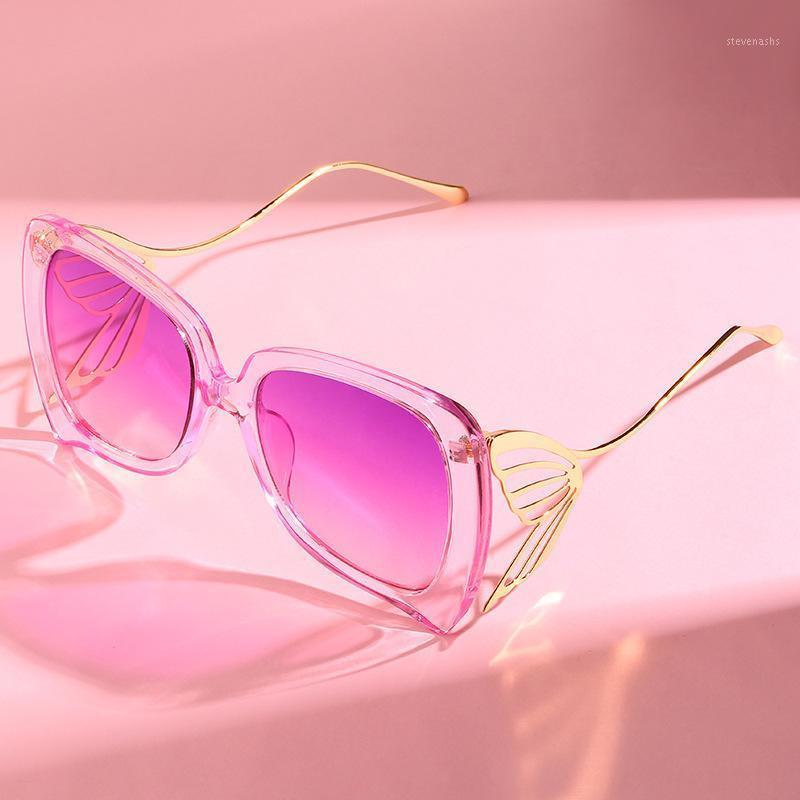 Солнцезащитные очки 2021 Мода Бабочка Женщины Бренд Дизайнер Trend Личности Очки UV4001