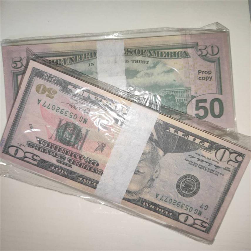 Hohe Tspeh-Party 50-5 Kopie Währungsstücke / Paket Qualität Großhandel 100 Versand Requisiten Fabrik US-Währung KMCXN