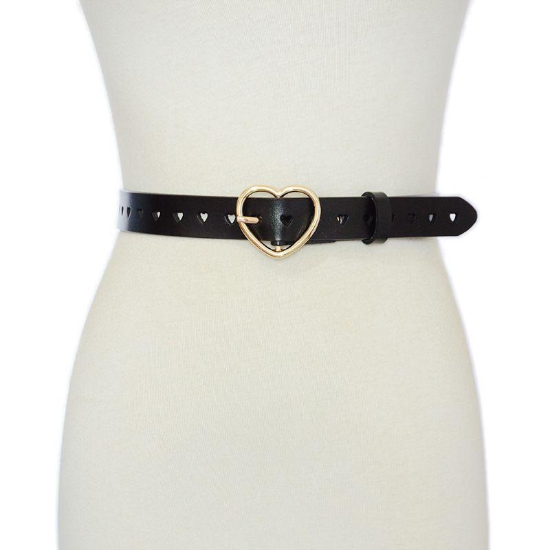 Cinturón de cuero genuino de la femenina de la femenina de las mujeres del nuevo estilo del cinturón de cuero decorativo