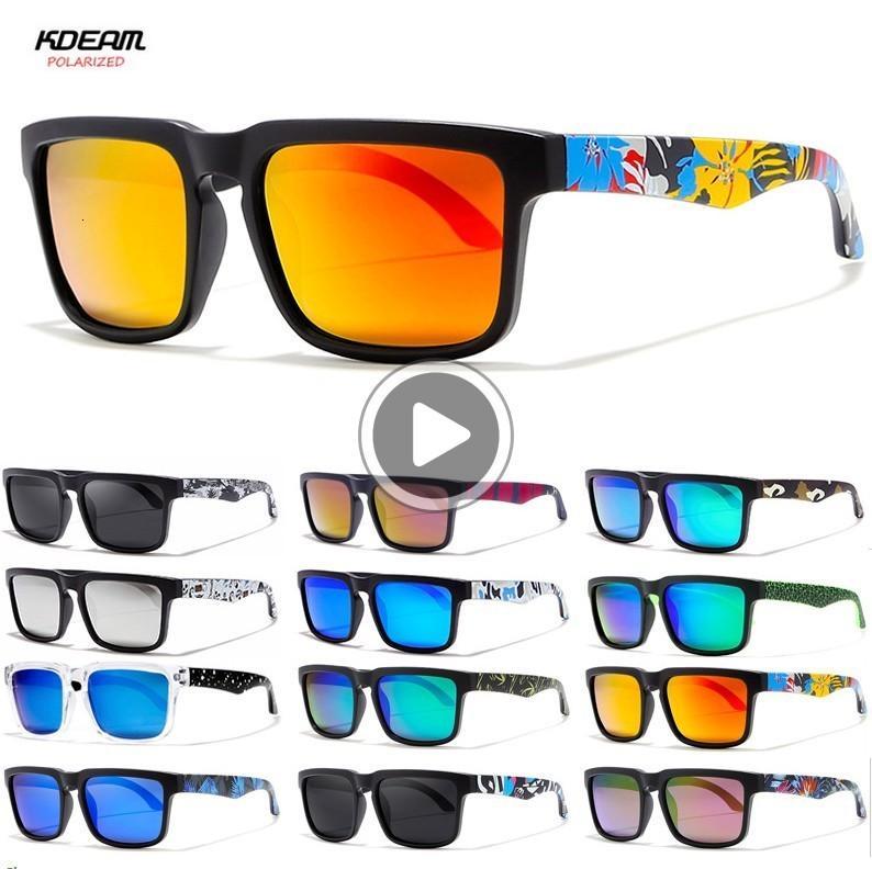 Polarize Klasik Erkekler Sunglass Sqre Erkekler Den Baskılı Bacak Spor Erkek Kdeam Güneş Gözlüğü Ayna Cam 2501 MXVBL