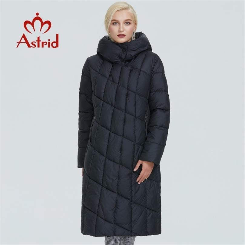 Astrid Kış Ceket Kadınlar Elmas Desen Kap ile Tasarım Kalın Pamuk Giyim Uzun Ve Sıcak Kadınlar Parka Ar-9212 201212
