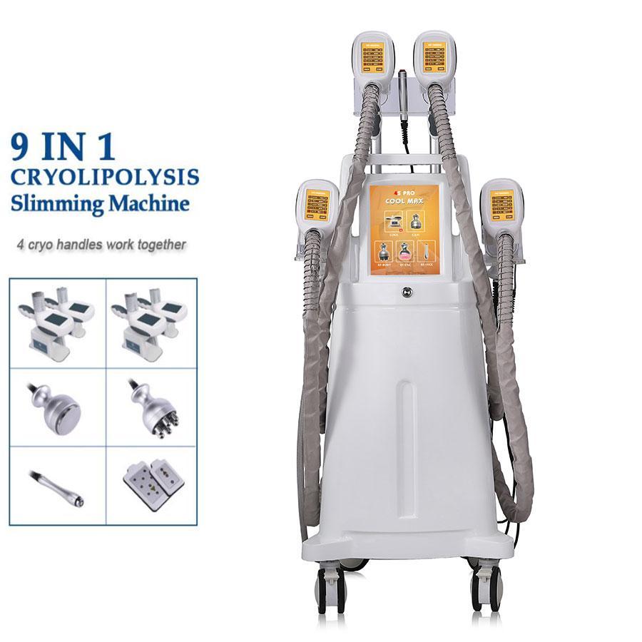 Profesyonel 6 in 1 Yağ Donma Cryolipolysis Makinesi Satılık Kilo Kaybı Kavitasyon Lipolaser RF Kriyoterapi Ultrashape Zayıflama Makinesi