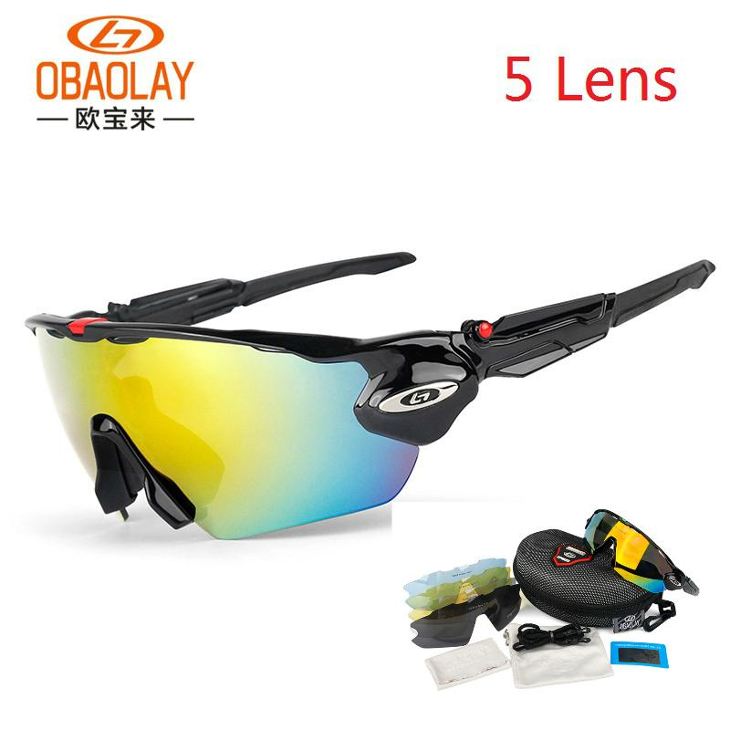 Велосипедные очки поляризованные спортивные UV 400 велосипедные очки для мужчин женщин велосипедные солнцезащитные очки 5 линз МТБ велосипедные очки велосипедные очки Q0119