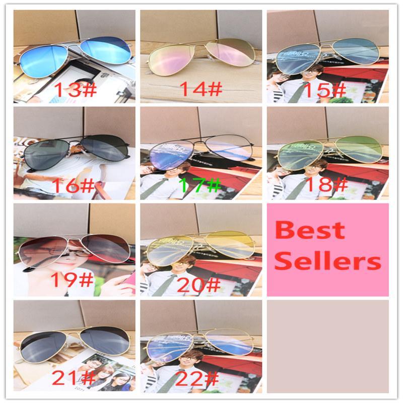 Проектирование Polarized Luxury Ray Солнцезащитные очки Мужчины Женщины Пилотные Солнцезащитные Очки UV400 Очки Bans Очки Металлическая Рамка Polaroid Lens 3447 Хорошее качество