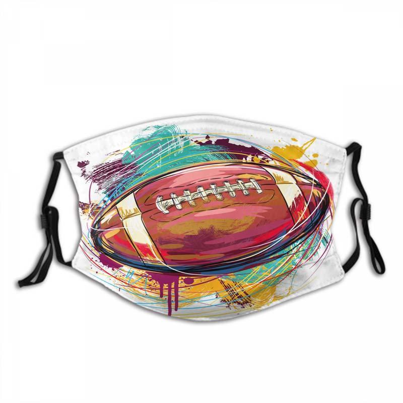 Designer Maschera per il viso maschere di protezione Moda Calcio Maschera baseball mascherina mascherine antipolvere in cotone traspirante e riutilizzabile per Adulti Bambini fai da te
