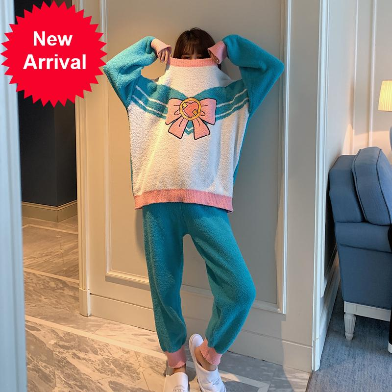 Sailor Moon Pyjamas Sets Cosplay Cartoon Netter Pullover Freizeit Home Wear Dressing Gownrb3j