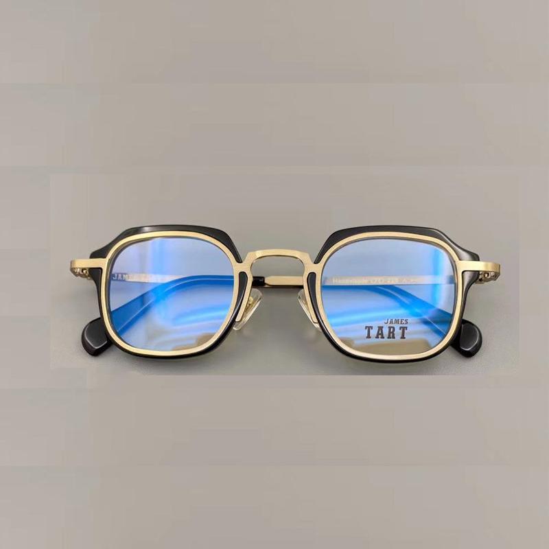Tart228 جديد الرجال والنساء النظارات البصرية الكلاسيكية البيضاوي التيتانيوم لوح إطار نظارات بسيطة جو نمط نظارات الساخن بيع مع حالة ووتش