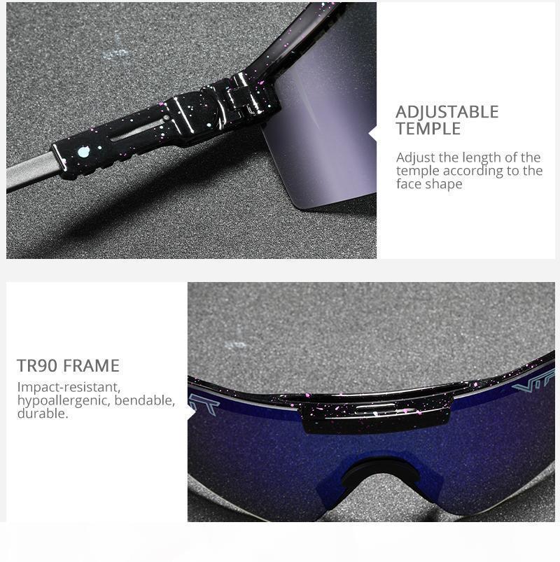 2021 Pit original Viper Sport Google TR90 Polarized Lunettes de soleil pour hommes Femme EXCEPTOIRE EUROPIÈRES EYEAUX 100% UV Cadeau de lentilles en miroir UV
