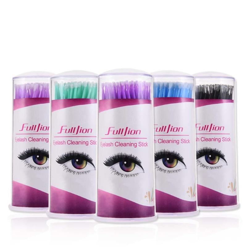 Hot Grafting Eyelash Extension Special Cotton Swab Makeup Cleaning Stick Disposable Cotton Swab Bottle Embossed Cotton Swab