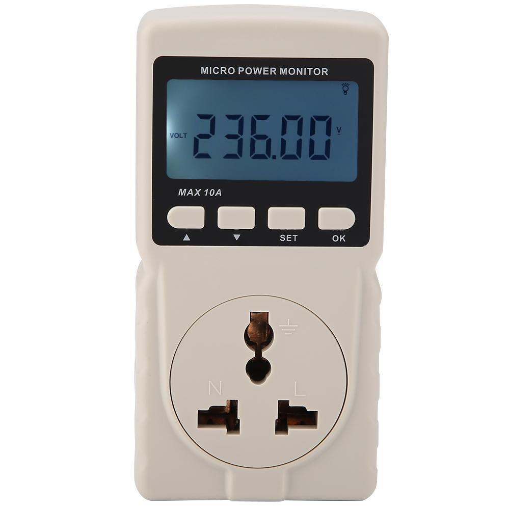 전원 모니터, 튼튼한 내구성 GM86 디지털 LCD 마이크로 파워 미터 분석기 모니터 220V 10AM AU 플러그 GM86 테스터 측정 역률 / 주변