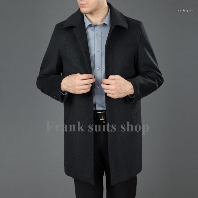 Özel yapımı yün ceket orta-uzun erkek giyim moda yün palto sonbahar ve kış erkek1