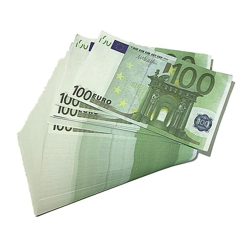 Billet Paper Props 1: 1 EUR Money Props Moneda Kids Play Bar Bar Props Atmosphere D5 100Euro TGEO Faux Simulación Regalos Crafts Crafts Fake XFMI
