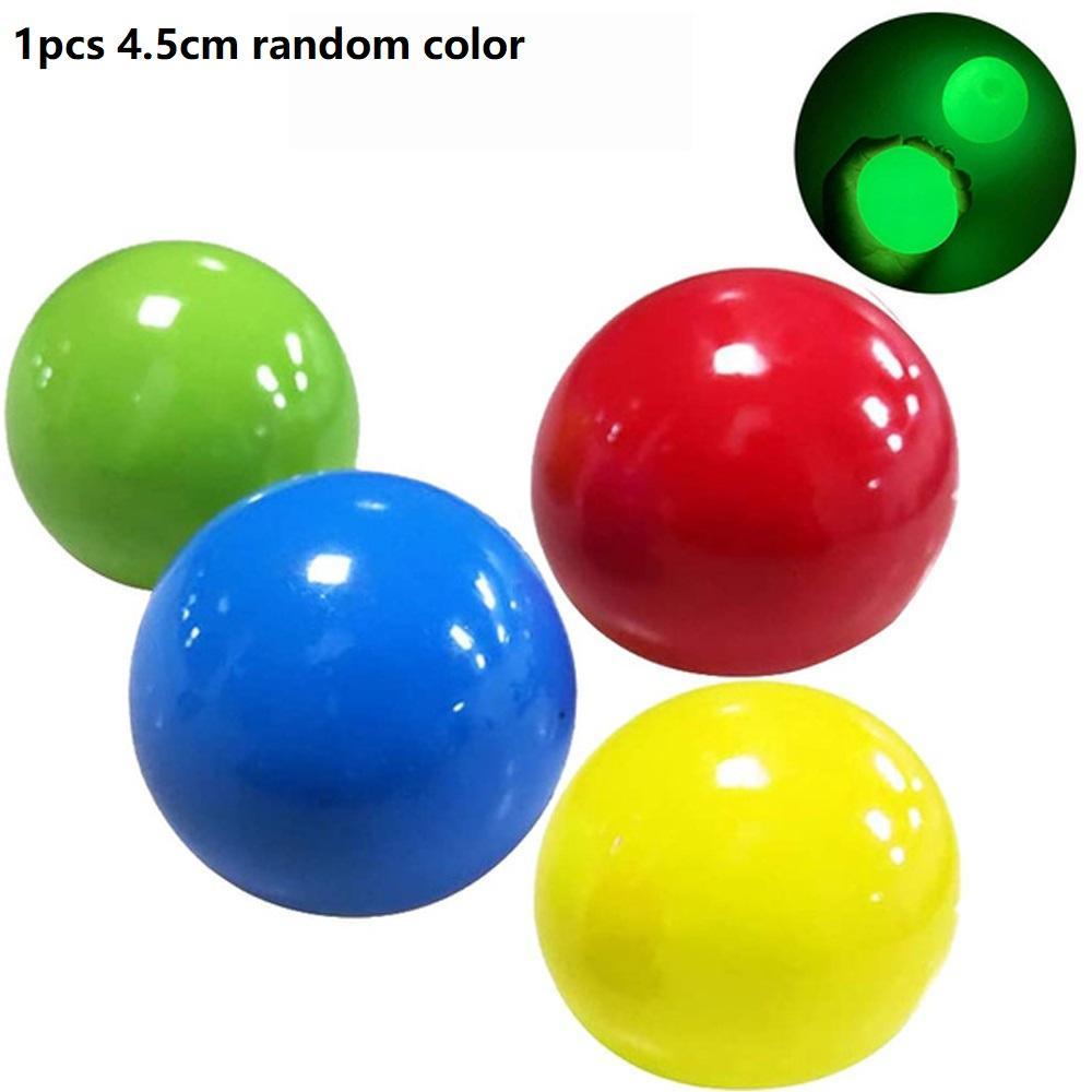 4 Bälle Geschenk TPR Ball Deckentraining Interactive Interactive Interactive Safty Stress Farben Luft Kinder Ballspielzeug Leuchtendes Reliever Klebrige Bkind