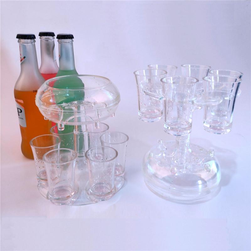 6 tir d'acrylique Distributeur Distributeur Bar à bière rapide Distributeur de boissons d'alcool Distributeur Distributeur de vin Dispositif de restauration à manger Barre de boisson FF578