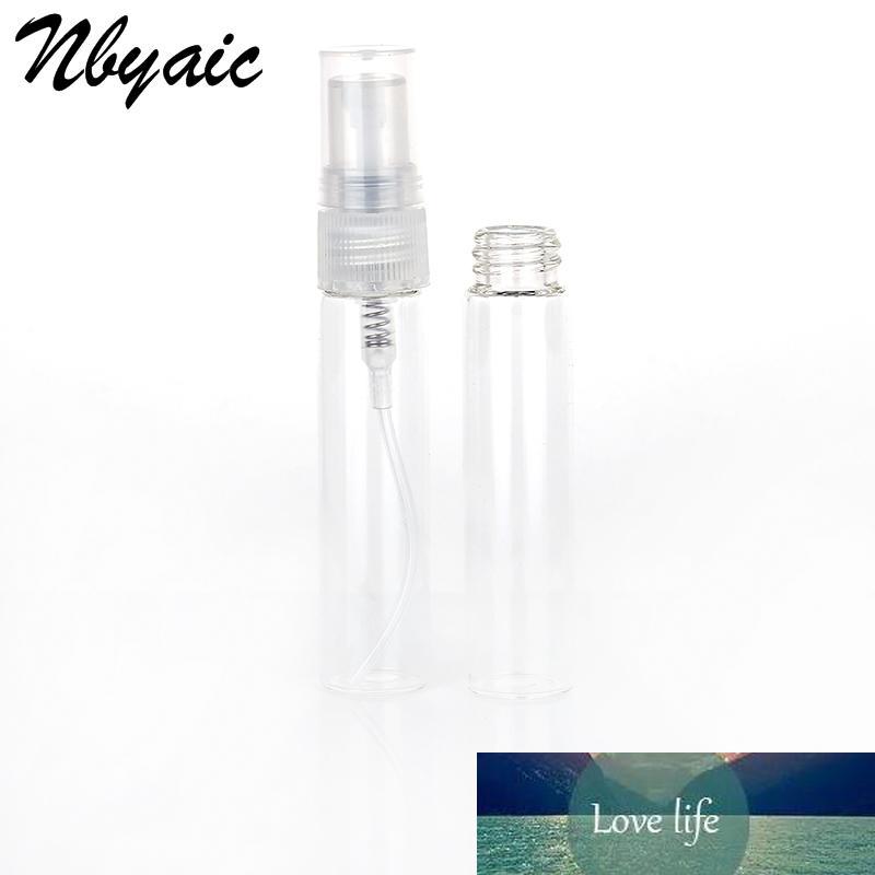 Nyaic 50pcs portable mini parfum bouteille verre vides bouteille cosmétiques bouteille bouteille bouteille nébuliseur 2ml 3ml 5ml 10ml