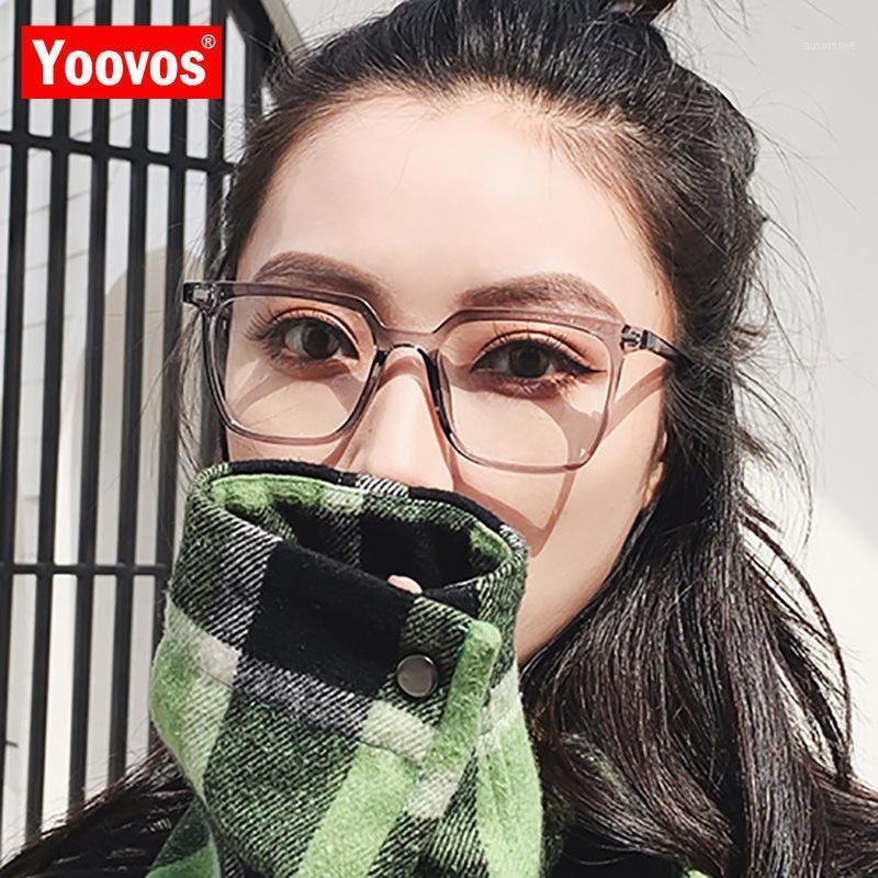 YOOVOS 2020 Quadratische Brille Rahmen Kunststoff Frauen Brille Rahmen Klare Linse Mode Brillen Frames für Frauen Lunette De Vue Femme1