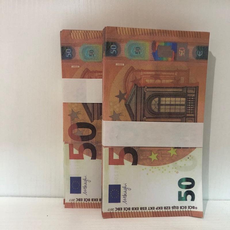 50 bar Shooting Prop ProP Prop Prop Banknote Étape contrefaite Contrefaite MV Euro Le50-24 Atmosphère Partie Copie Hot Aqksi QBHLB
