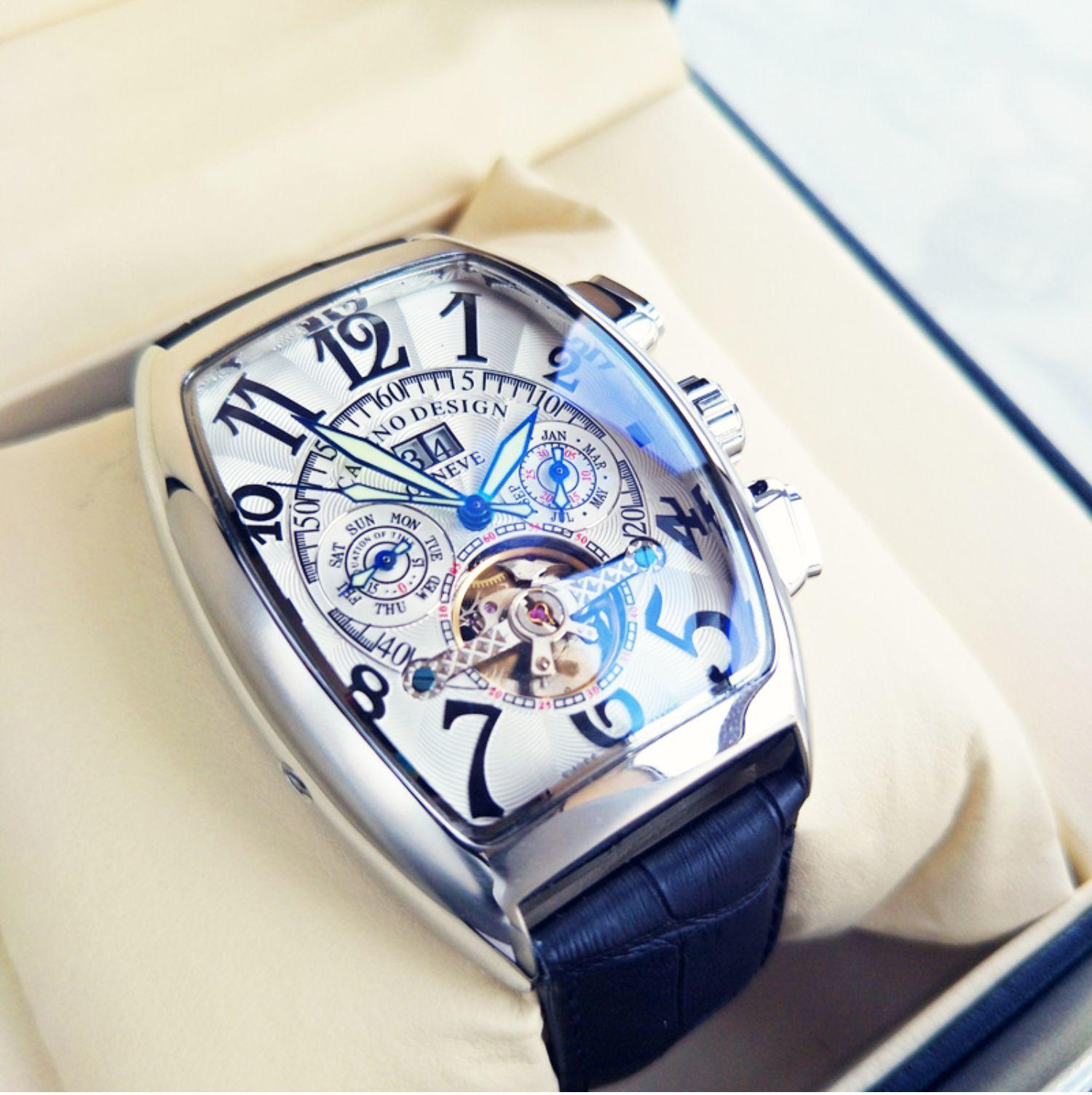 Frank-Miller- 최고 브랜드 럭셔리 남성 시계 FM Tourbillon Automaticquartz 시계 남성 방수 비즈니스 기계적 손목 시계 Y1214