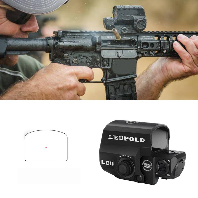 Leupold LCO RED DOT Holográfico Reflex Vista Ajuste todos 20 mm Montaje en riel Alcance de caza al aire libre Rifle Collimator Mira