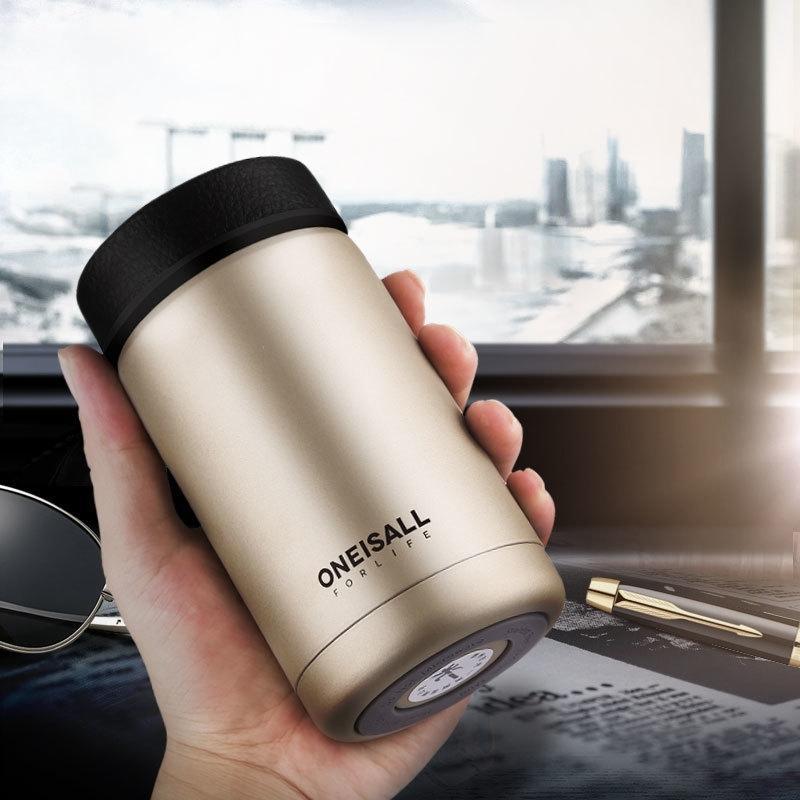 Thremos Bottiglia Coffee Mug Thermos Vuoto Tazza sottovuoto in acciaio inox Tazza di caffè Portatile Autfrigerazione Acqua Thremos Acquazzo Boccetta 400ml 201109