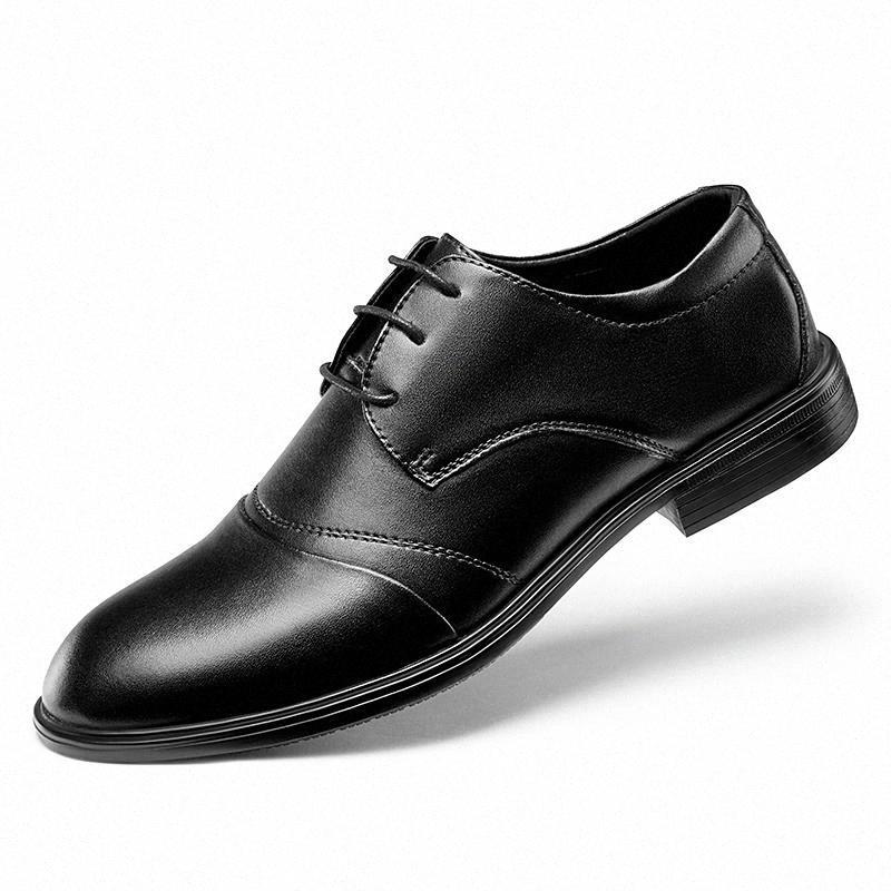 Homens vestido sapatos moda macio macio toe clássico negócio oxford sapatos para homens lace up ao ar livre novo vestido de couro # cn1e