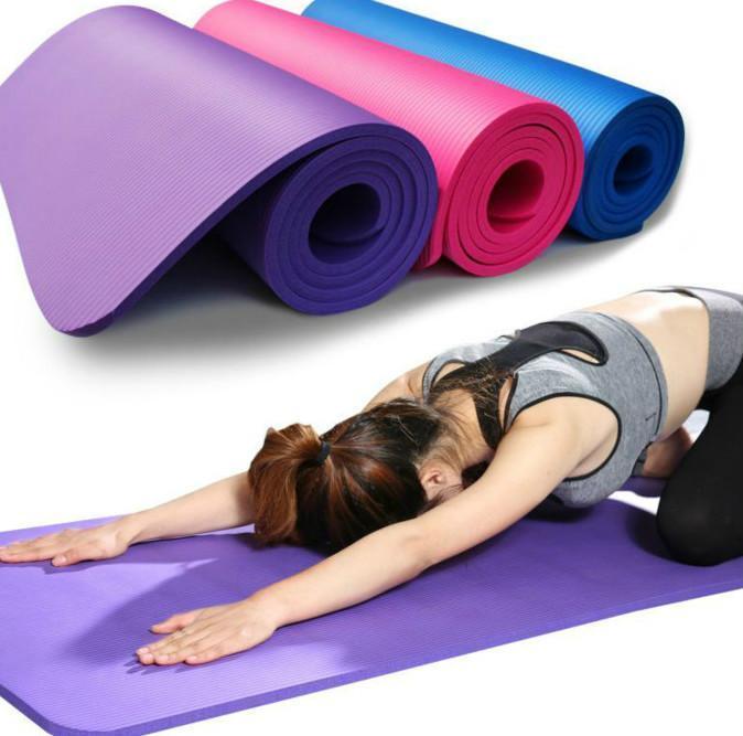 183 * 61 * 1 spessore nbr colore puro tappetini yoga per interni esercizio insagribile per fitness anti-skid yoga mat 183x61x1cm pilates with mat ewe3194