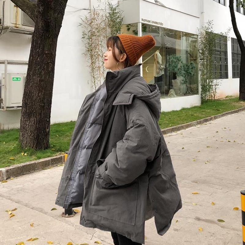 Sorte uma mulher de oversize parkas moda novo para baixo feminino mulher com capuz winter woman aline jaqueta 201029