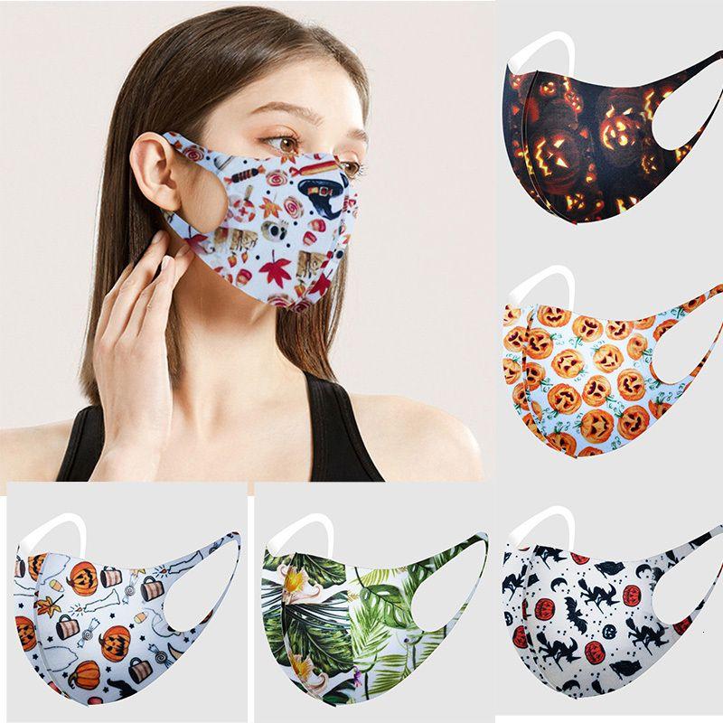 Navidad Larraop Cara adulta Forme a Navidad Halloween 3D para imprimir anti-polvo transpirable máscara lavable Máscaras de fiesta G