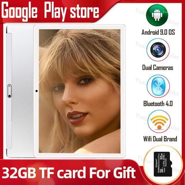 Tablet PC 10 Inch Global Version Dual Sim Card Quad Core 2GB RAM 32GB ROM Cameras Android 9.0 OS 1280x800 IPS HD Screen1