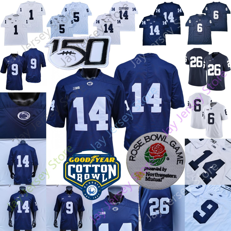 2020 PSU Penn State Football Jersey NCAA Colling Sean Clifford Saquon Barkley Noah Cain Pat Freierhuth McSorley Jahan Dotston Ford Shaka Toney