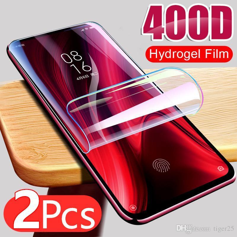 2 pcs filme hidrogel para xiaomi redmi nota 9s 9 pro máx 7 8 k30 k20 8t poco x3 nfc m3 protetor de tela redmi 8 protetor sem vidro