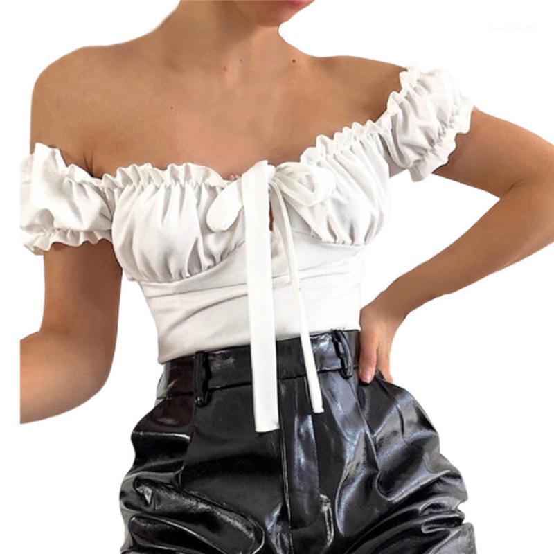 2020 Summer Femmes Sexy Off BodySuits Skinny Bodysuits Solida Skinny Dame Chemise Tops Pantalons Jumpseau # Jun211