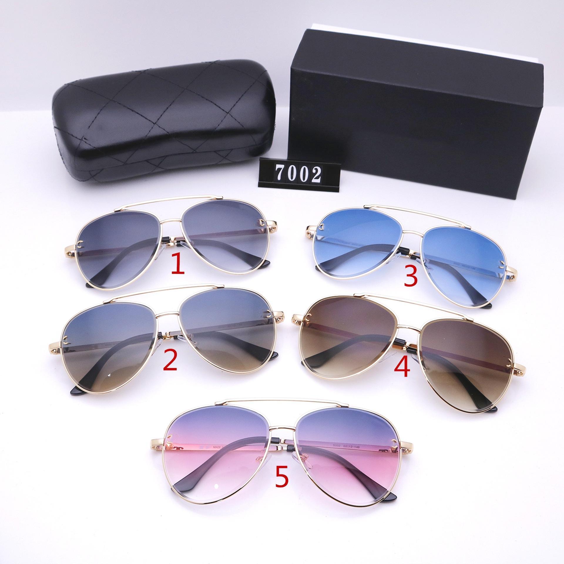 خمسة ألوان طيار نظارات شمسية أزياء الرجال والنساء المصممين الفموي عالية الجودة القيادة النظارات الاستقطاب 7002