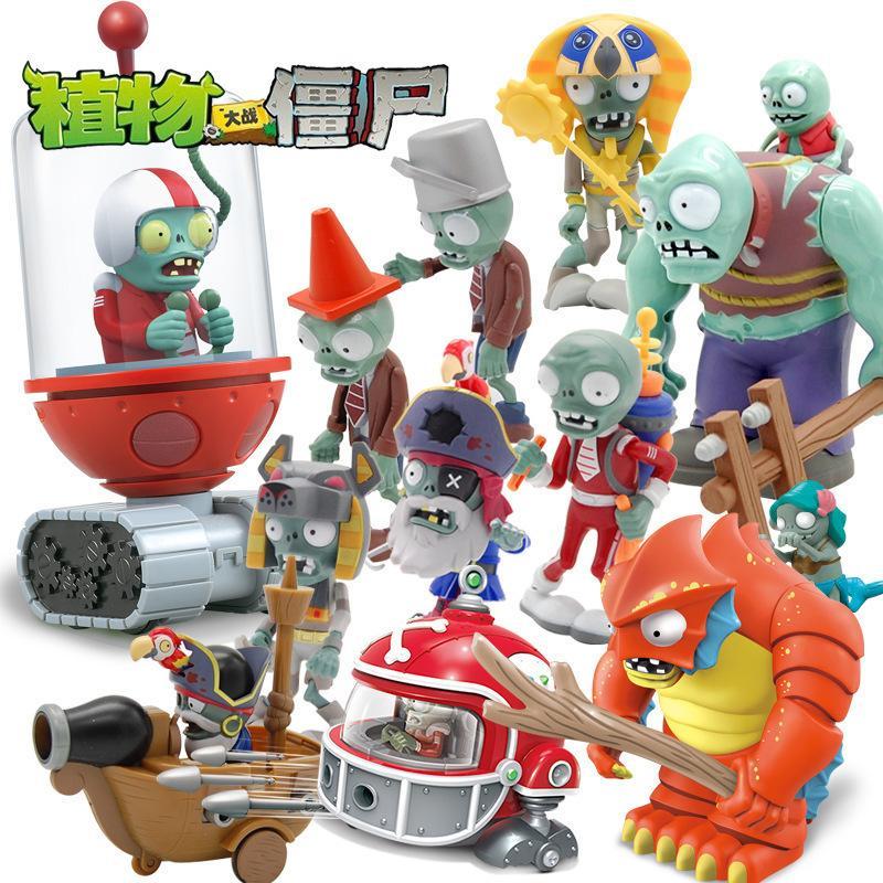 Jouets d'Iju4hchildren de plantes vs Zombies Soleil Dieu désintègre la planche à roulettes de Cowboy Jet Zombie Doll9kjyu
