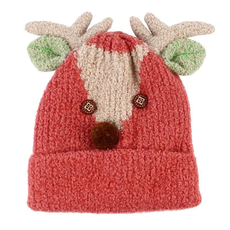 Рождественские украшения Chrismas Зимняя детская плюшевая шляпа Комфортабельная с кожей Дышащие лося вязание крючком рога для малышей для мальчиков девочек