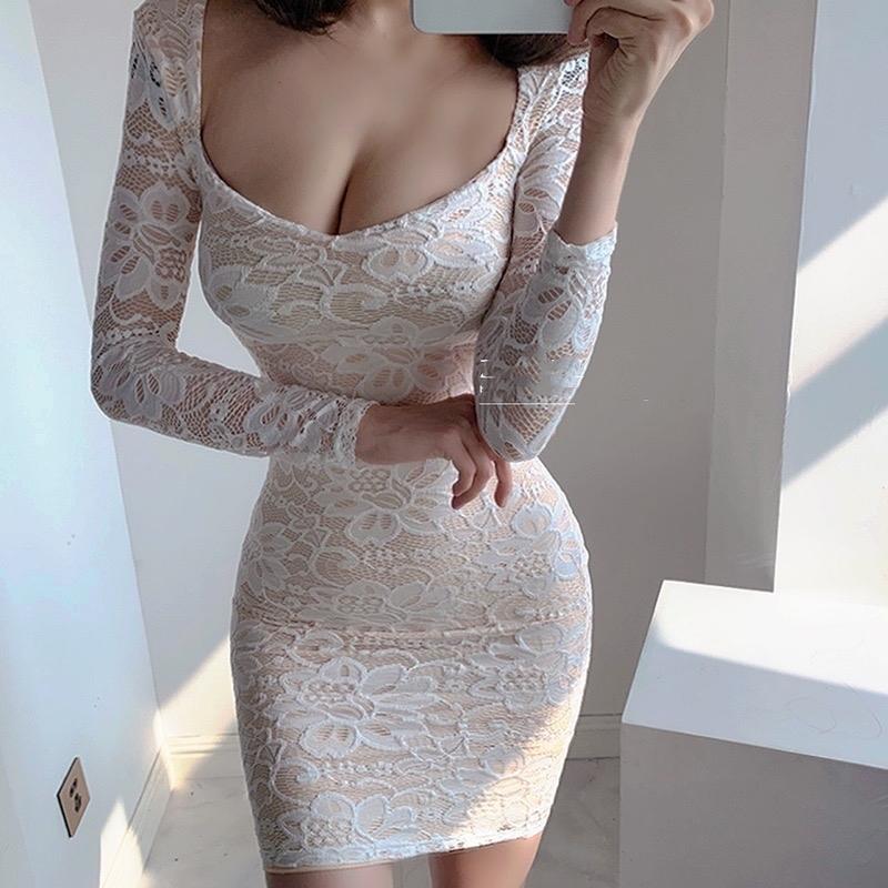 Партия высококачественная кружева женское женское низкорезание высокой талии с длинными рукавами с длинными рукавами с длинными рукавами белоснежка белый Q1229