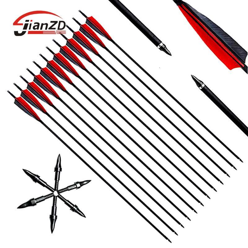 Flecha flecha, rama, yi, arco curvado inverso mixto, suministros de tiro con arco de fibra de carbono, compuesto tradicional anti