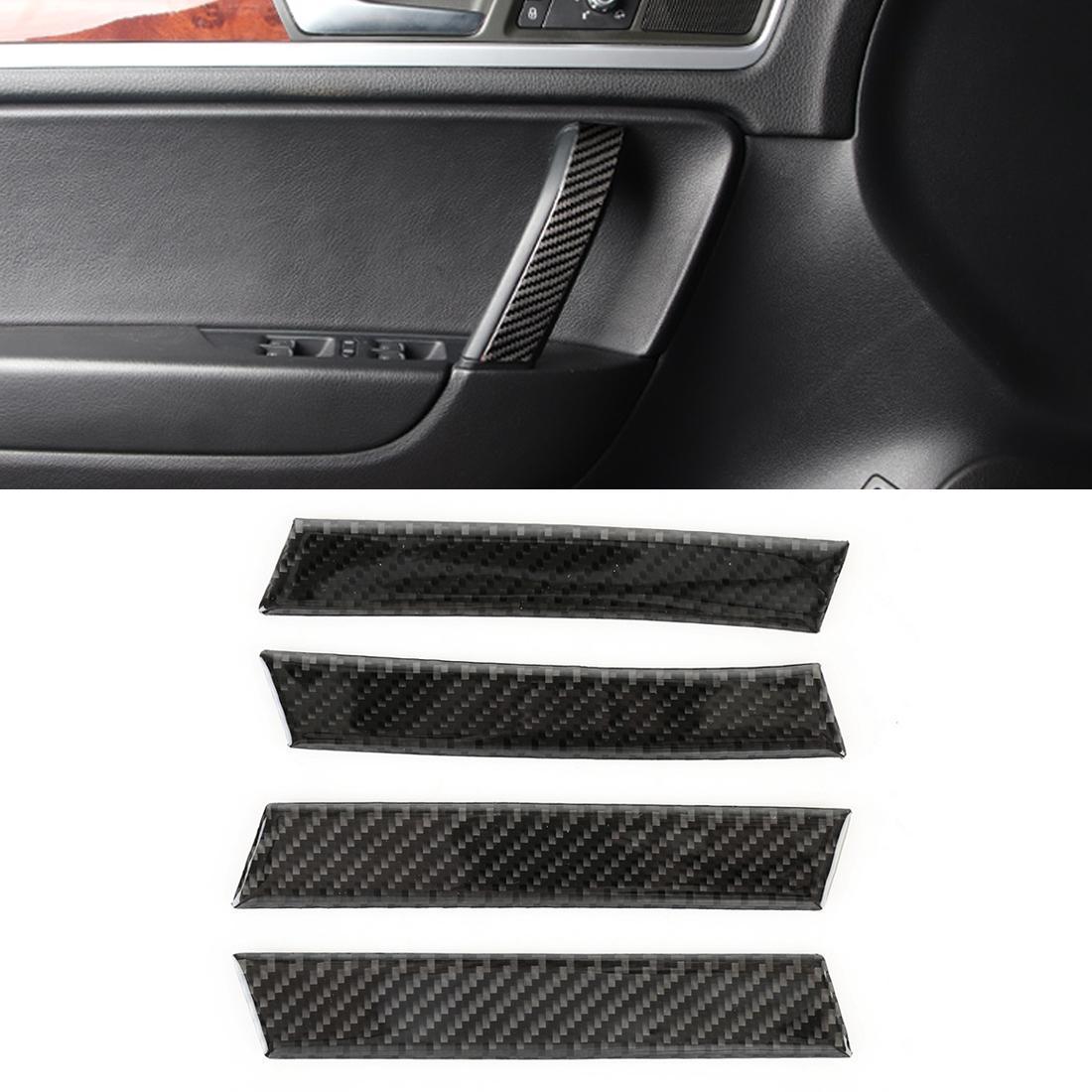 4 шт. Автомобиль Углеродная волокна Внутренняя Ручка Панель Декоративная Наклейка для Volkswagen Touareg