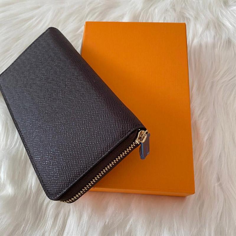 Fashion designer women purses high quality clutch leather wallet single zipper wallets lady ladies longx classical long purse 60017 with orange box glitter2009