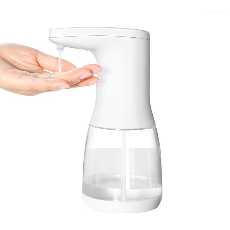 Dispensador de jabón automático Sin mangas de movimiento infrarrojo líquido Dispensador de jabón manos libres para cocina de baño 600ml1