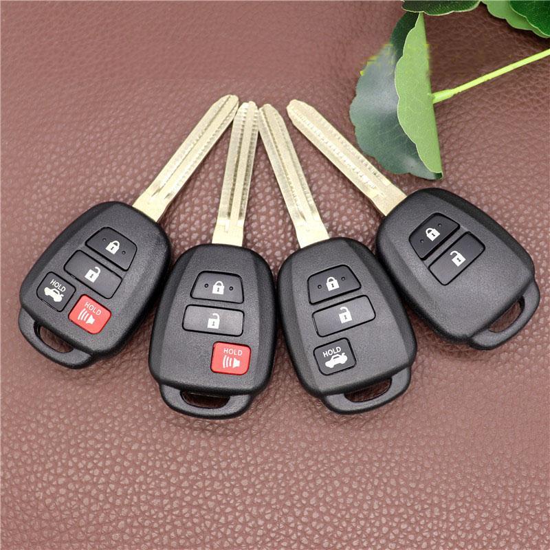 Для Toyota Camry 2012 2013 2014 2015 Cortrolla 2014 2015 4 кнопки Remote Remote Car Key Shell Case FOB с Toy43 Blade