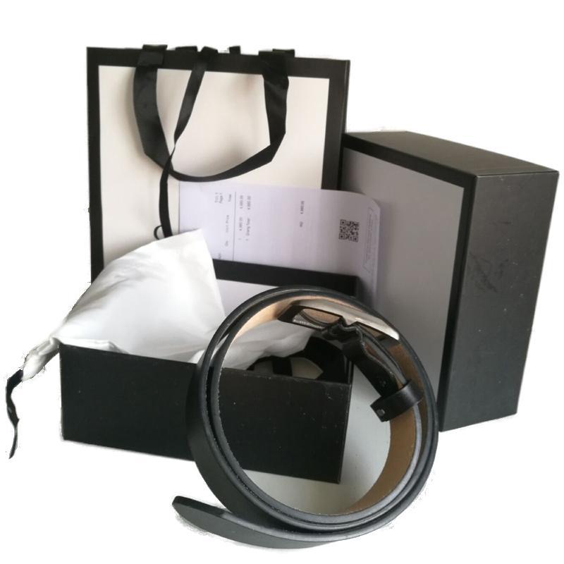 Fashion Best-seller di alta qualità cintura in pelle da uomo e donna in oro fibbia serpente fibbia nera cinture con consegna gratuita con scatola