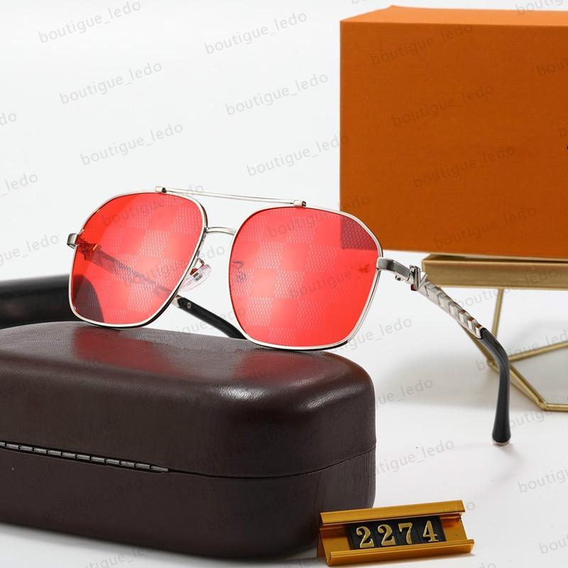 마스코트 2274 선글라스 럭셔리 유니섹스 스타일 Z2274E 선글라스 밝은 골드 고품질 레이저 골드 도금 선글라스 상자