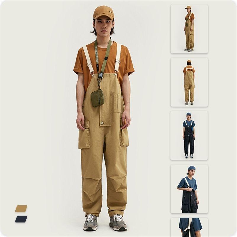 Vimass весна лето новых модных повседневных многомерных мульти карманных брюк мужской ремешок комбинезон повседневные штаны 201109