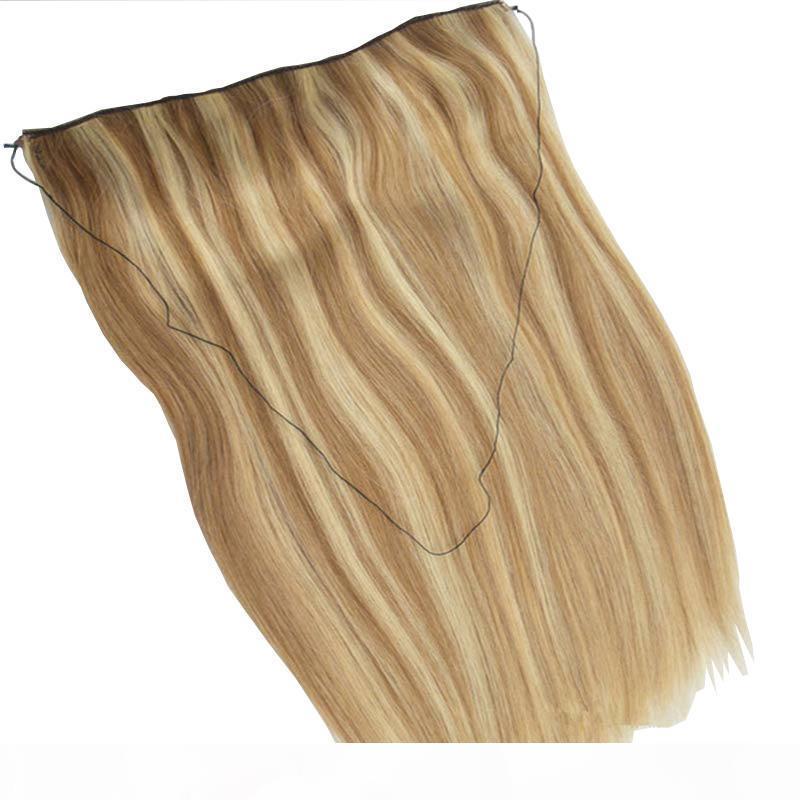 Whosale 100% İnsan Halo Saç Flip Saç Uzantıları Piyano Renk 27 613 Saç Çevirme