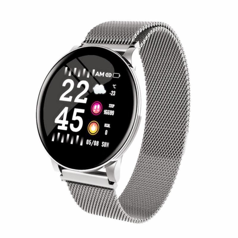 جديد الساعات الذكية الرجال النساء دم متنقل الفولاذ المقاوم للصدأ حزام IP67 الرياضة smartwatch المرأة الصحة سوار الذكية لالروبوت ios