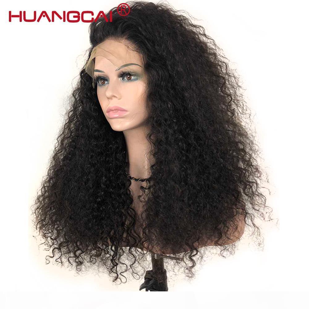 Kinky Courly 360 Spitze Frontal Remy Malaysian Haare Für Frauen Spitze Frontal Human Haare Perücke Prepucked 180% Dichte Kinky Human Perücken